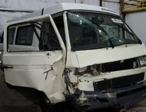 Crashed Vanagon